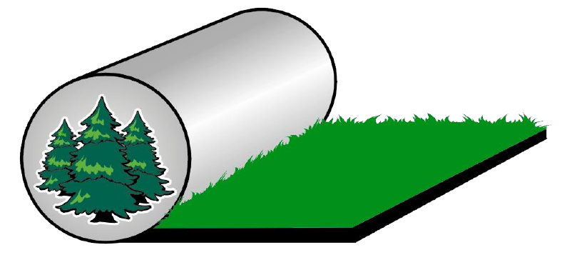 Drawing of sod roll