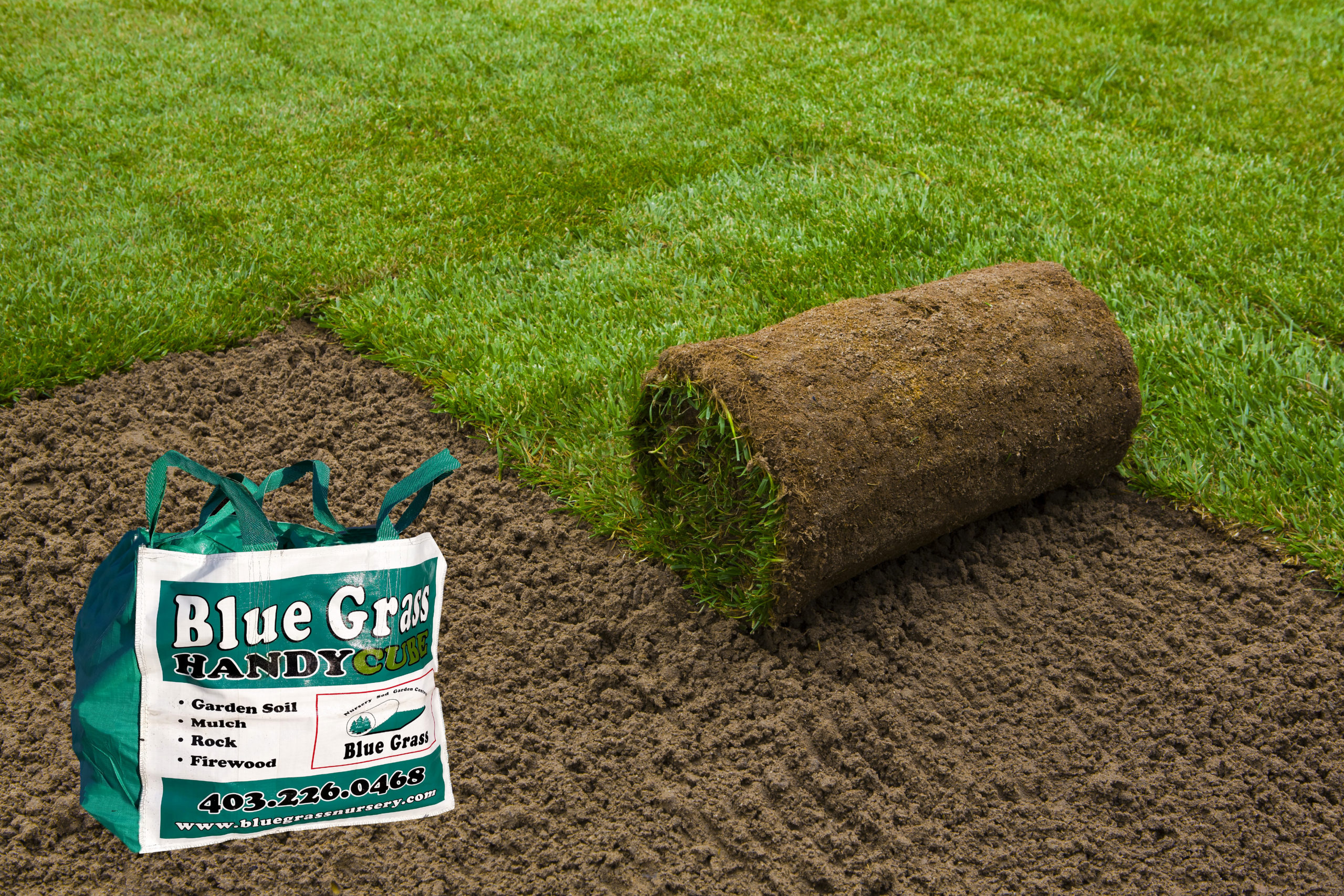 sod roll with handy cube