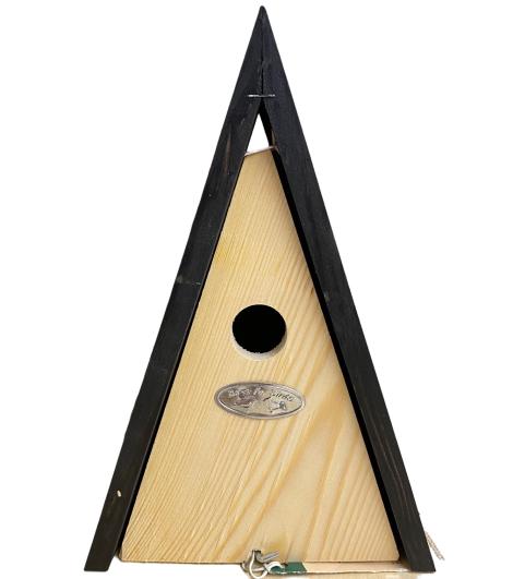 pinewood-birdshouse-triangle-shape